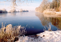 Aller im Winter