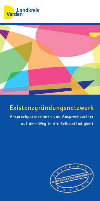 Broschüre: Existenzgründungsnetzwerk Landkreis Verden