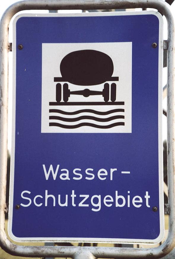 Schild: Wasserschutzgebiet