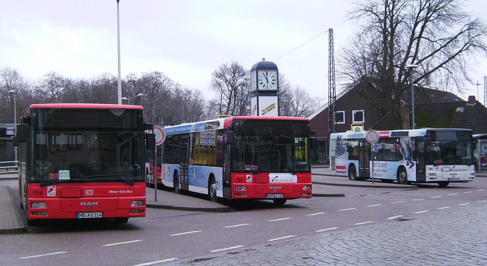 Busse am ZOB Verden